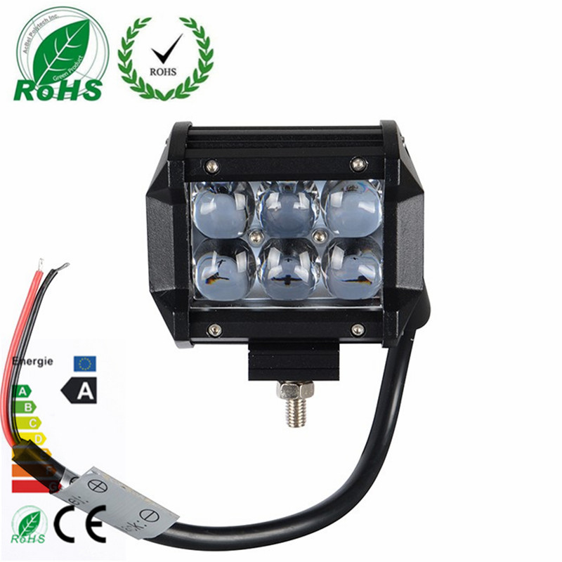 1Pcs Brand 4 Inch 4D 18W 6LED Projector Len Spot Beam LED Work Light Lamp for ATV /Truck /Tractor SUV /Jeep california exotic colt max beads