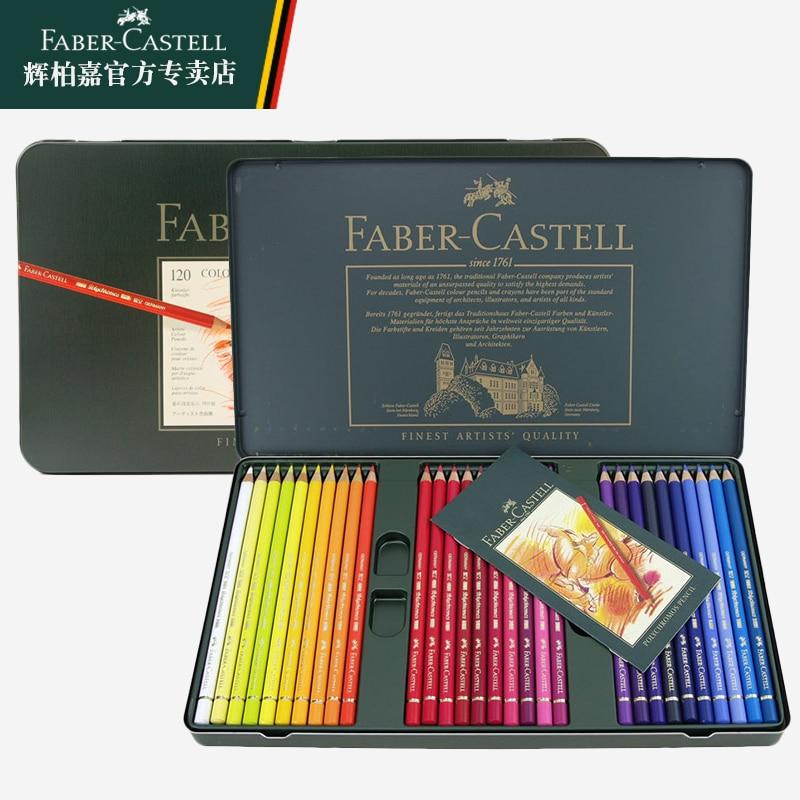 Faber castell green tin solventborne green colored pencil box color pen colored pencil 12/24/36/60/120 faber orizzonte eg8 x a 60 active