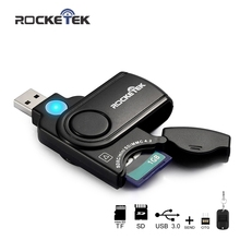 Rocketek usb 3.0 multi 2 in 1 memory otg phone card reader 5Gbps adapter for SD TF micro SD for pc computer laptop accessories цена в Москве и Питере