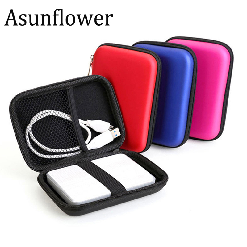 Portable 2.5 Inch External Storage USB Hard Drive Disk HDD Carry Case Cover Multifunction Cable Earphone Pouch Bag For PC Laptop
