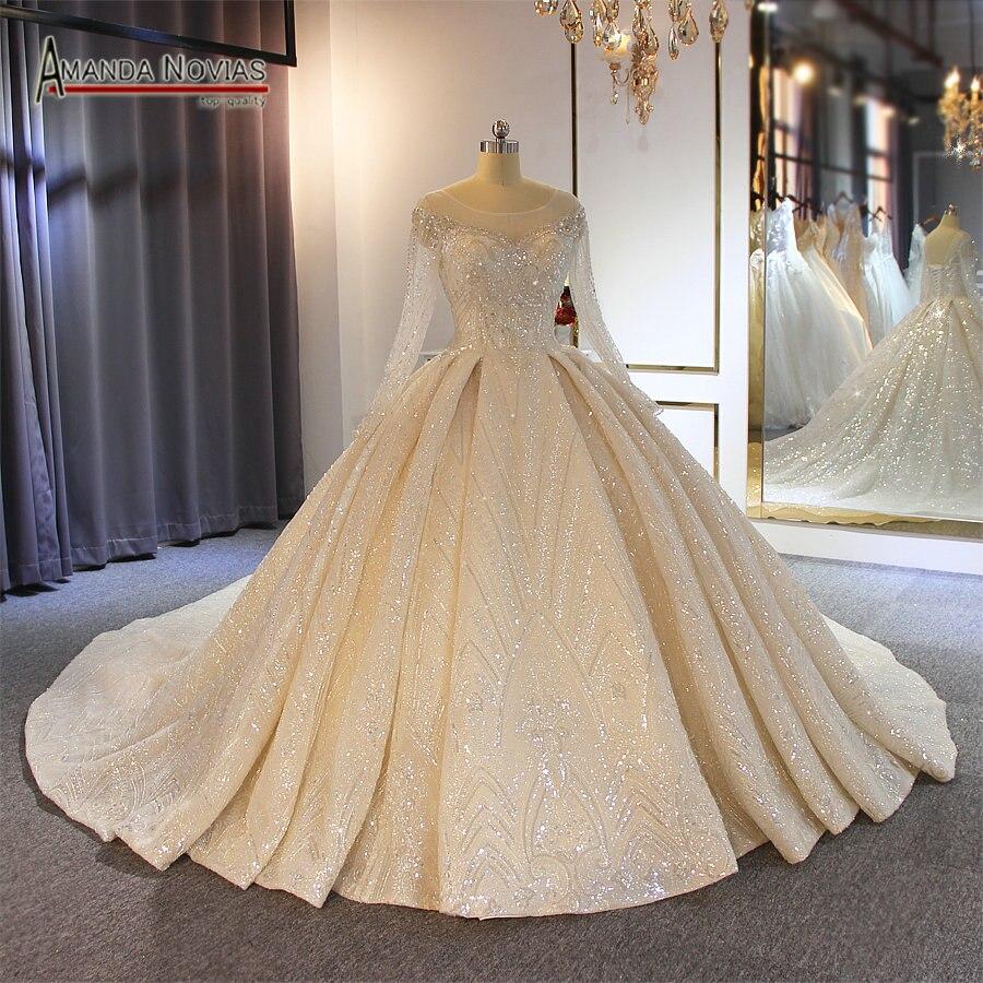 vestidos de novia 2019 sparkling beading lace wedding dress wedding gown