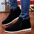 GTIME Autumn Winter Men Warm Snow Boots Casual with Short Plush Ankle Boots Height Increasing Rubber Zip Men Shoes #ZWS67