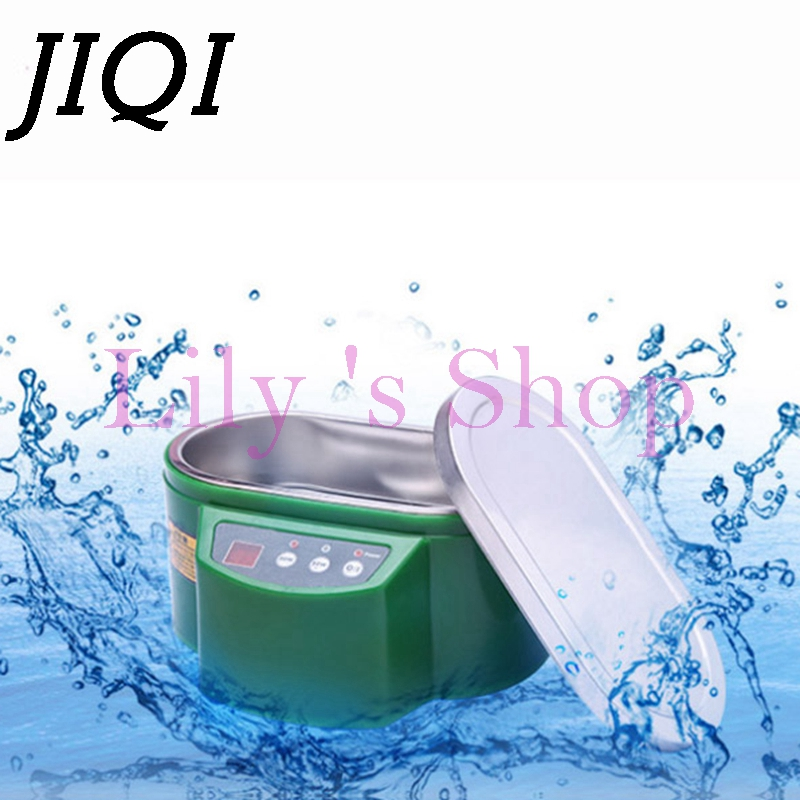 JIQI Mini Ultrasonic Cleaner Bath cleaning machine Glasses Jewelry Watch Circuit Board intelligent 35W 50W 220V 110V EU US plug free shipping da 968 220v stainless steel dual 30w 50w ultrasonic cleaner machine with display for jewelry glasses circuit board