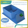 Полный холодильное оборудование для 50m3 морозильной камеры для рыбы и мяса  сменный агрегат воздушного охлаждения bitzer конденсаторный