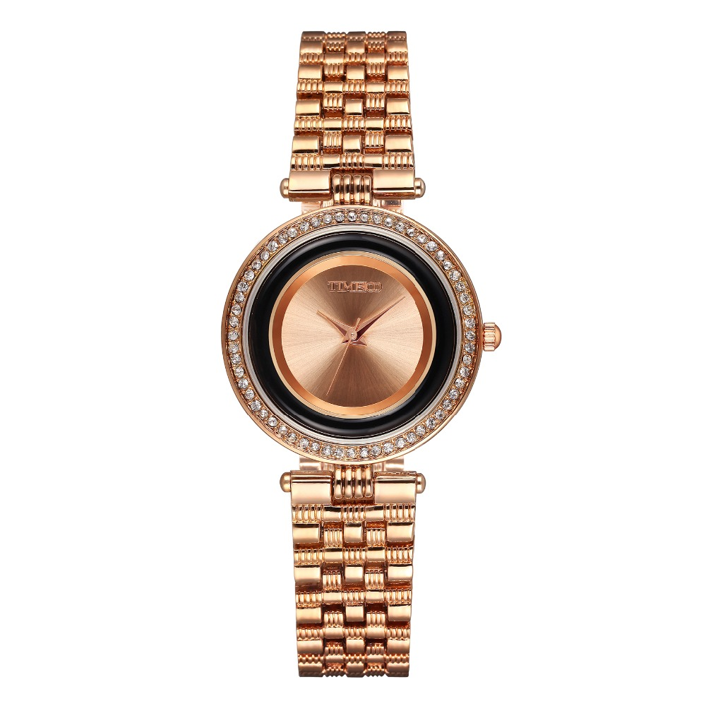 New TIME100 Women Quartz Watch Analog Display Alloy Strap Casual Sports Waterproof Dress Watch Women Gift Relogio Feminino time100 vintage women bracelet watch analog quartz rhinestone clasp alloy strap dress wrist watches for women relojes de marca