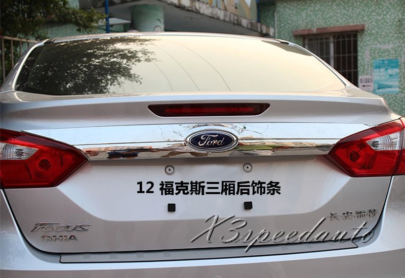Free Shipping Chromed Rear Trunk Lid Cover Trim For Ford Focus Sedan 2012 2013 2014 for 2013 2014 2015 land evoque high quality rear trunk lid cover trim