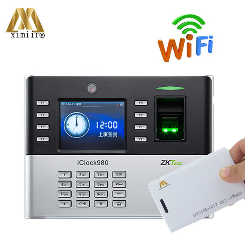 ZK Iclock980 Fingerprint Access Control With 125KHz RFID Card And WIFI Communication Biometric Time Attendance