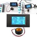 AC напряжение метров 100A/80 ~ 260 В мощность энергии Вольтметр Амперметр ватт тока Ампер Вольтметр ЖК-панель монитор