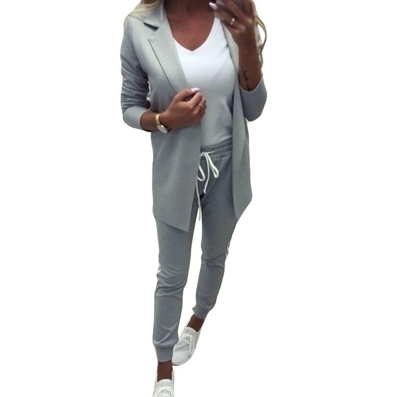Женский спортивный костюм MVGIRLRU, комплект из куртки с отложным воротником и белых брюк в полоску, костюм из двух предметов
