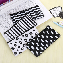 1x Creative stationery bag makeup canvas pencil kawaii case estojo escolar school supplies