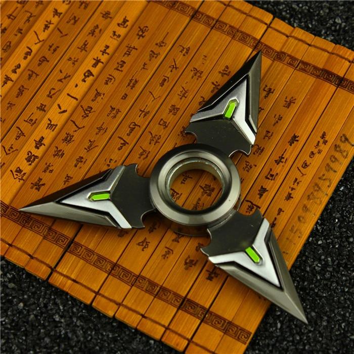 Birthday Gift Game OW Genji 8cm Shuriken Zinc Alloy Rotary Darts Weapons Model For Kids
