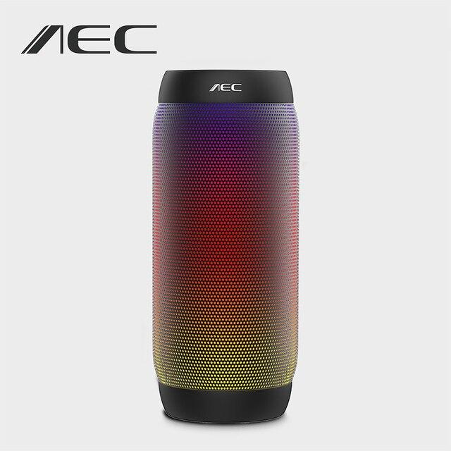 AEC BQ-615 colorido LED Speaker Super Bass Sem Fio Bluetooth Speaker Portátil Mini Speaker HIFI Stereo NFC Suporte Rádio FM Mic