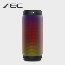 AEC Портативный Bluetooth Динамик BQ-615 Красочный светодиодные Беспроводной Динамик super bass мини Hi-Fi стерео Динамик Поддержка NFC MIC fm Радио