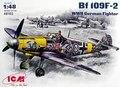 De impressão! Kit modelo de plástico ICM 48102 Messerschmitt Bf-109F-2 segunda guerra mundial de combate 1/48