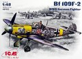 Out of print!  Plastic model kit ICM 48102 Messerschmitt Bf-109F-2 WWII German fighter 1/48