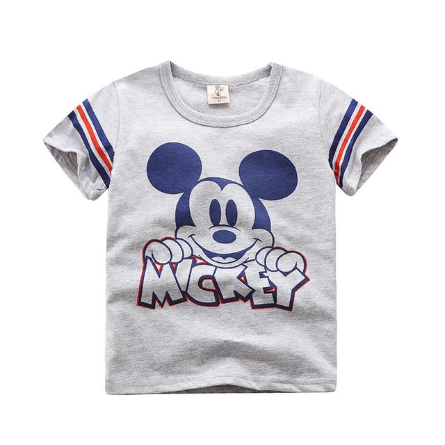 Boy T-shirt  Mickey Mouse Clothing Clothes Fashionable T-shirt for Boy & Girl Cute Little Girl T-shirt Short-sleeved Shirt