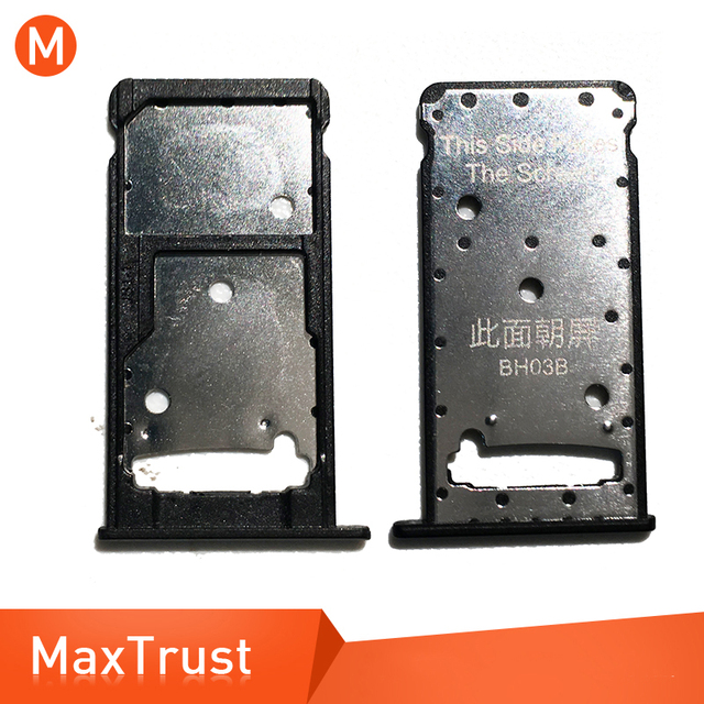 Top Quality Sim Card Tray Holder For Huawei Y7 2017 / Y7 Prime 2017 Micro  SD Slot Holder Replacement Repair Part