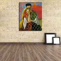 Picasso With A Veil Woman Figure Painting Abstract Canvas Spray Drawing Home Decor Frameless Oil Painting
