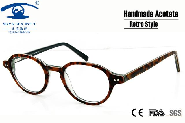 Nuevo 2015 Hombres Anteojos de La Vendimia Pequeño Marco Gafas Redondas Mujeres Anteojos Recetados Unisex Retro gafas de grau