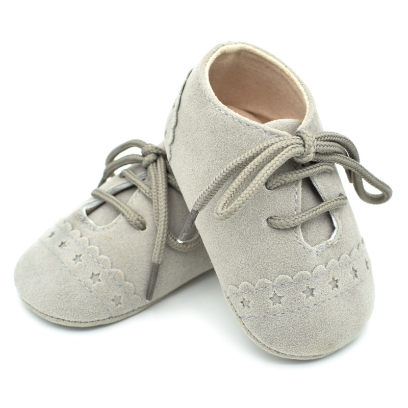 Infant Baby Girls Boys Spring Lace Up Soft Leather Shoes Toddler Sneaker Non-slip Shoes Casual Prewalker Baby Shoes 26