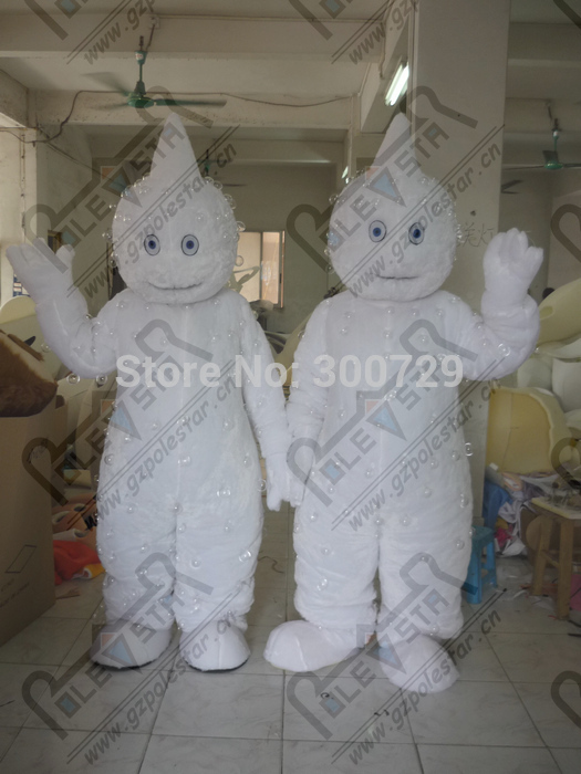 export high quality pure Beads white monkey mascot costumes yeti