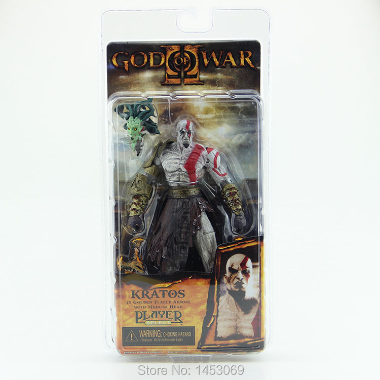 God of War 1pcs 7.5 NECA God of War Kratos in Golden Fleece Armor with Medusa Head PVC Action Figure Collection  #GOW002