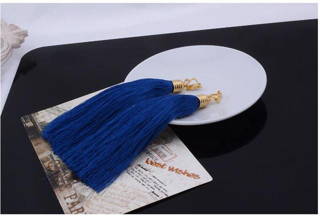 Long Tassel Ear Cuff Clip Earrings For Women No Piercing Clip on Earring