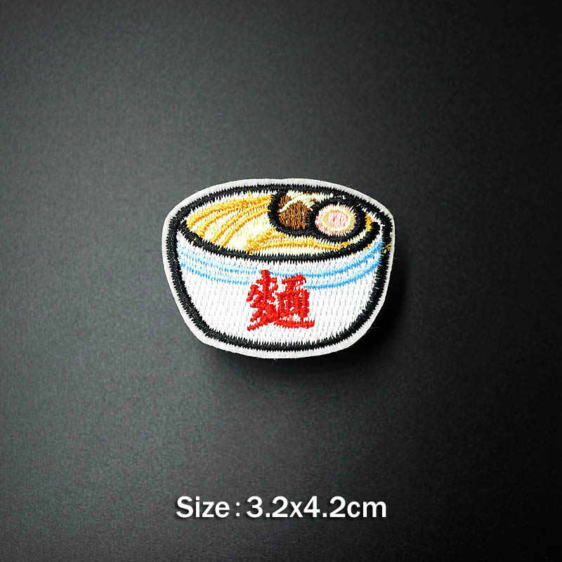 Sushi Peixe Feijão Vinho DIY Emblemas De Pano Consertar Decorar Ferro No Remendo Roupas Vestuário Costura Decoração Applique Costurar Em Patches