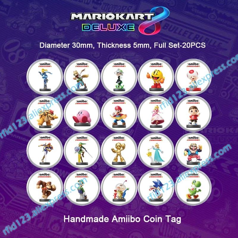 NFC Amiibo Coin Tag For Mario Kart 8 Deluxe/Splatoon2/Mario Odyssey /Zelda/Super Smash Bro.