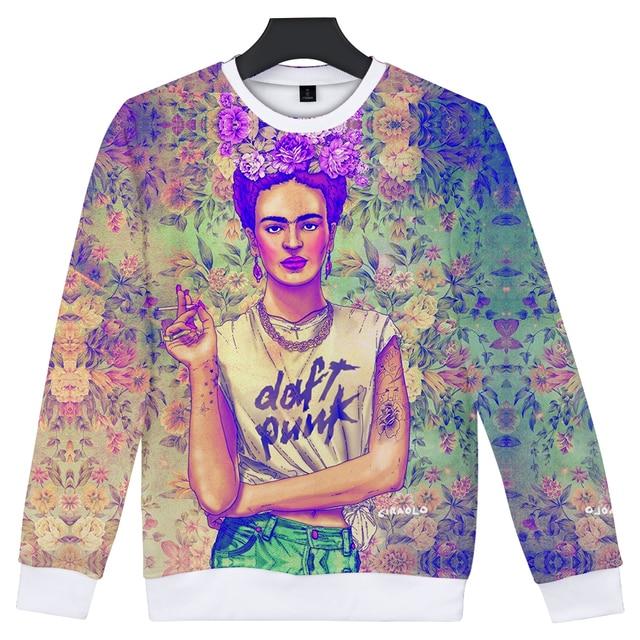 7da127251 2018 New Arrive Frida Kahlo 3D Sweatshirt Men/women Fashion High Quality  Harajuku 3D Print Frida Kahlo Men's Hoodies Clothes-in Hoodies &  Sweatshirts ...
