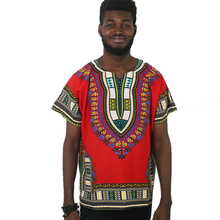 MD african dashiki clothes for men and women cotton shirts short sleeve shirt traditional print t-shirts casual tee tops