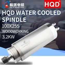 HQD 3.2KW GDZ-24-1 silnik wrzeciona szybki chłodzony wodą grawerowanie akcesoria do maszyn obróbka drewna
