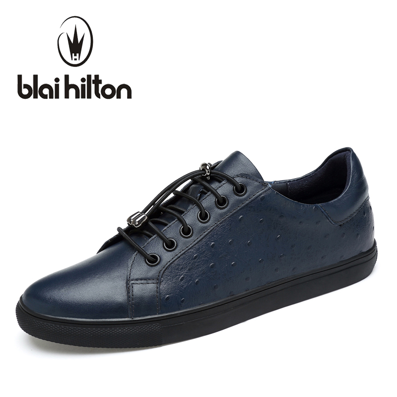 Blaibilton Mens Shoes Male Footwear men casual shoes Luxury Brand Genuine Leather Flat Fashion Designer Breathable SDA17221 2017 italy new brand designer golden genuine leather casual men shoes goose all sport star breathe shoes footwear zapatillas