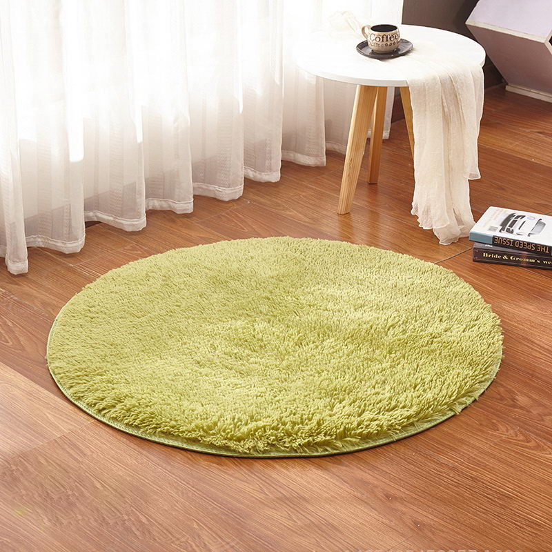Grass Green Round Rug Carpets Yoga Living Room Carpet Kids Room Rugs Soft and Fluffy Warm, custom size, diameter 60,80,100,160cm