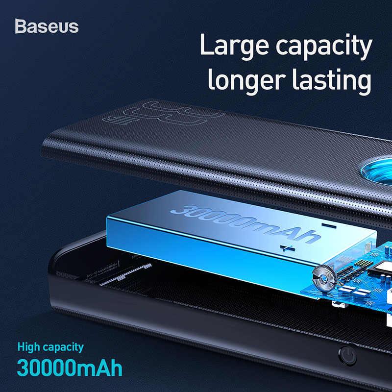 Batterie externe Baseus 30000 mAh USB C PD3.0 Charge rapide rapide 3.0 30000 mAh Powerbank pour chargeur de batterie externe Portable Xiao mi mi