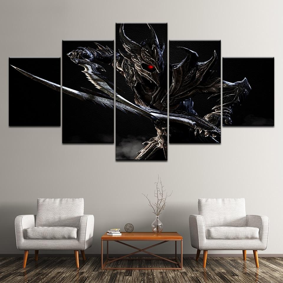 Classic Home Decor Pieces: Modular Canvas Wall Art Pictures Frame Home 5 Pieces Elder