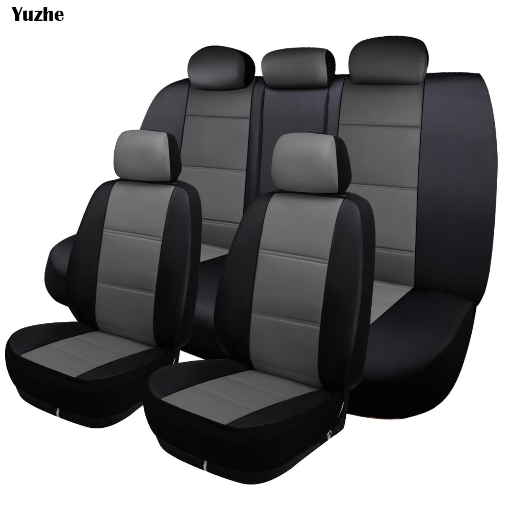 Yuzhe Universal auto Leather Car seat cover For Jeep Grand Cherokee Wrangler patriot compass Renegade automobiles accessories interior accessories steering wheel wiper turn signals pull rod operating lever cover sticker for jeep patriot compass wrangler