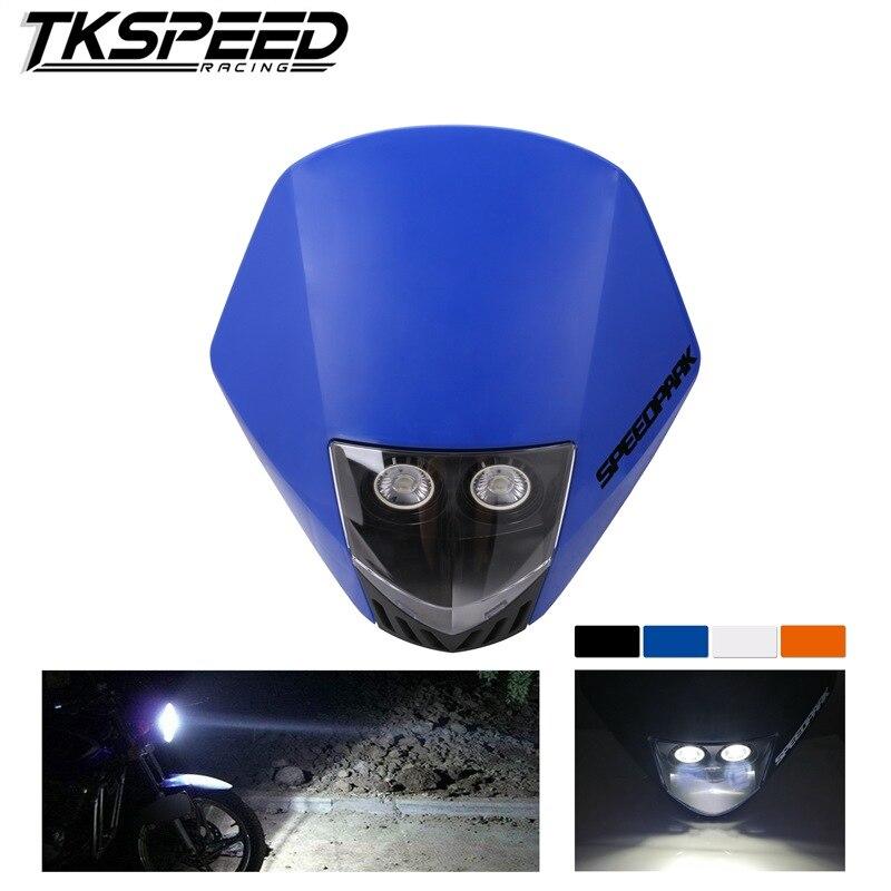 Universal Motorcycle Headlight Head Lamp Dirt Bike Motocross Dual Sport Head Light For KTM EXC Enduro Supermoto Phare Farol Moto