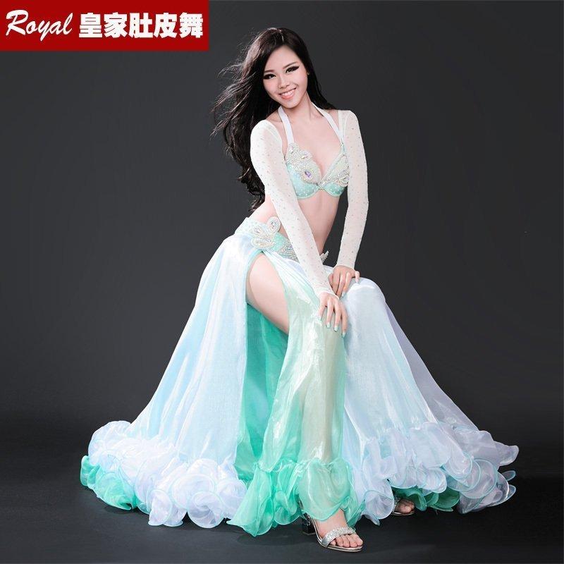 Novi plesni performans Ženska plesna oblačila Belly Dance Costume 4 - Odrska in plesna oblačila
