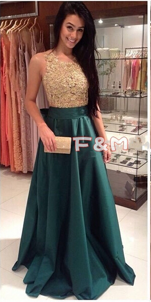 Popular Dark Green and Gold Prom Dresses-Buy Cheap Dark Green and ...