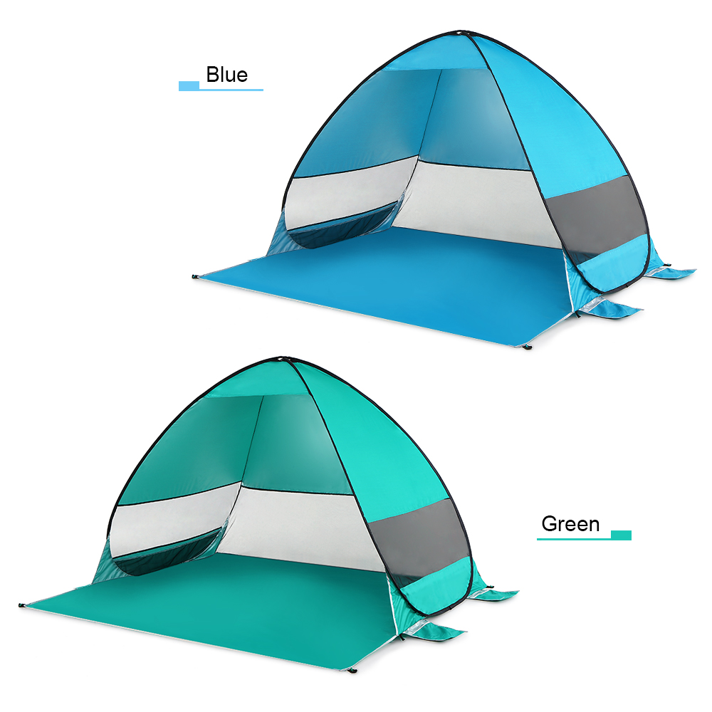 Image 3 - Automatic Pop Up Beach Tent Cabana Portable UPF 50+ Sun Shelter Camping Fishing Hiking Canopy Tents Outdoor Camping-in Tents from Sports & Entertainment