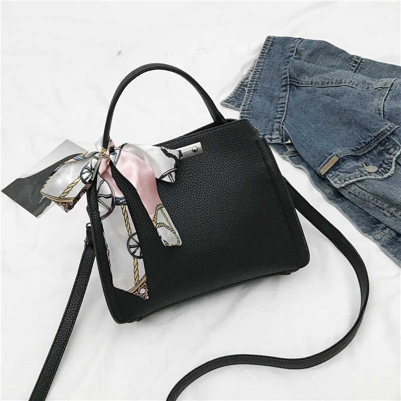 a6cd5c62a5648 ... The New Womens Handbag High Quality PU Leather Handbags Female Scarves  Casual Tote Bags Vintage Handbags ...