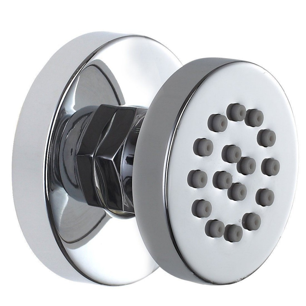 Brass Chrome Adjustable Round Massage Spa Body Jet Side Sprayer Bathroom Shower