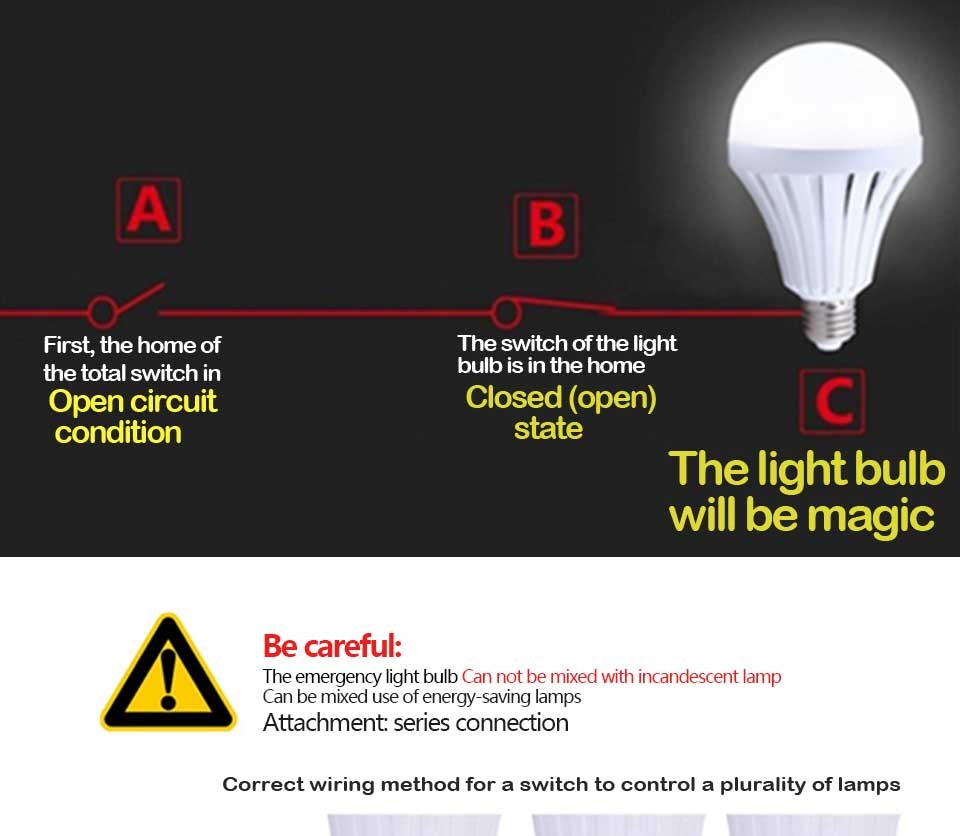 Buy Wholesale Led Bulb E27 Wireless Emergency Light Lighting Wiring Together With Circuit In Lamp