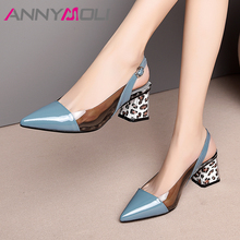ANNYMOLI High Heels Women Slingbacks Shoes Natural Genuine L