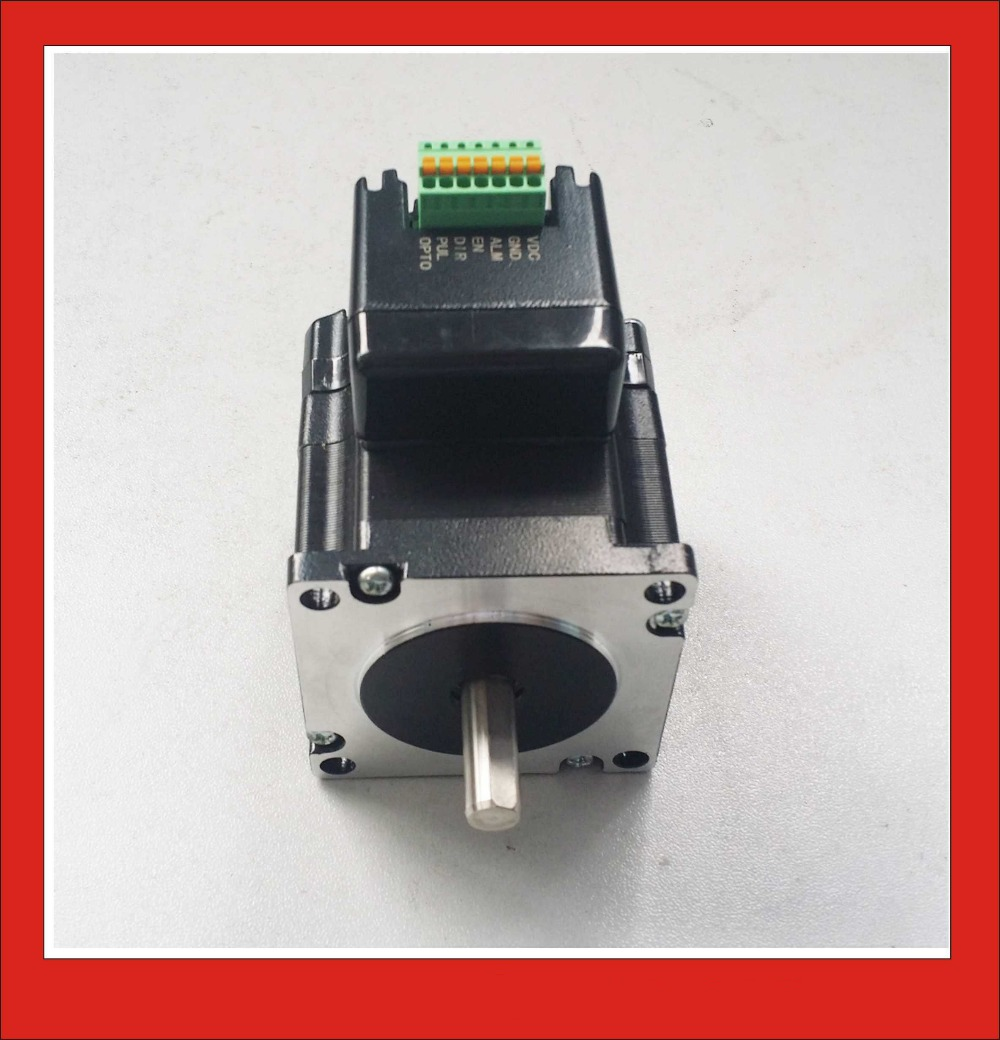 2 phase integrated nema23 stepper motor with driver box for Stepper motor torque control