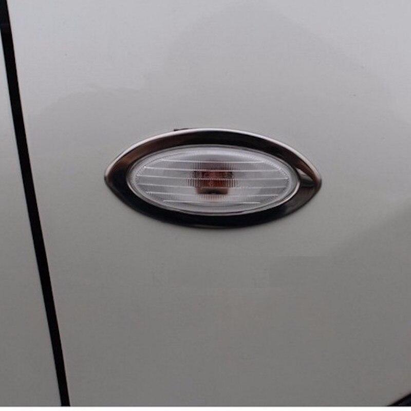 Pour Nissan Qashqai J10 2008 2009 2010 à 2015 Porte Lumières Côté Couvercle De La Lampe Garniture Cadre En Acier Inoxydable De Voiture-styling accessoires