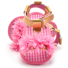 Newest Summer Baby Shoes for Newborn Kids Girl 3 Color Available Crib Beautiful Flower Prewalker 0-18M Hook & Loop