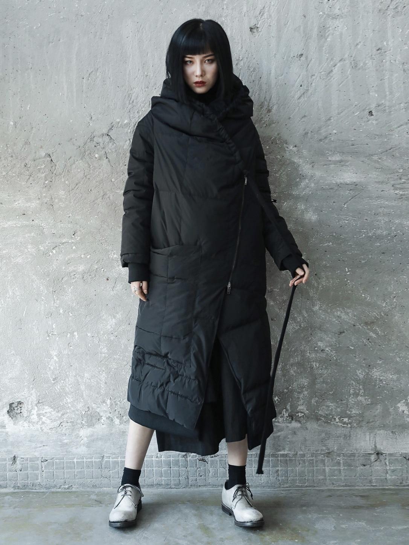 Vers Femmes À D'hiver Mode Z Le Longues Capuchon 2018 Noir Casual Grande Bas Des Black zoux Nouvelle Femme Irrégulière Manteau Taille Lâche Vestes pptqzw8x
