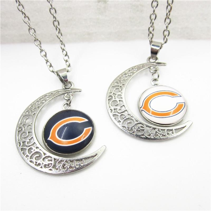 Дропшиппинг Американский Футбол спортивный Chicago Bears ожерелье украшения с цепями 50 см спортивных ожерелье Талисманы кулон ювелирные изделия